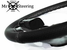 Pour Lotus Cortina MK2 Perforé Housse Volant Cuir Blanc Double Stch