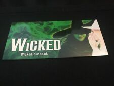 Wicked The Musical UK and IRELAND TOUR Glossy Ticket Wallet Holder VERY RARE