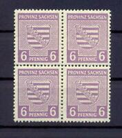 SBZ 76 Yb 6 Pfg. 4erBl seltene Farbe rötlichgrauviolett postfr gepr. Ströh(xs40)