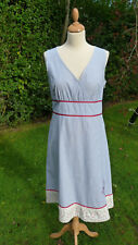 Ness sleeveless blue & white striped dress size 12                        (C13)