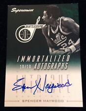 2013-14 Panini Intrigue Immortalized Autographs Spencer Haywood 10/10 EBAY 1/1