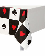 PLACE YOUR BETS TABLE COVER CARD NIGHT CASINO PARTY DECORATION ALICE WONDERLAND