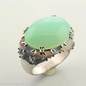 CLEARANCE Sterling Designer Aqua Chalcedony Cobblestone Ring