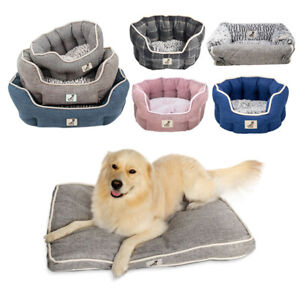 All Pet Solutions Alfie Fleece Lined Warm Luxury Dog Cat Bed Sofa & Mat Washable