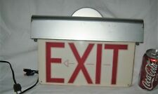 ANTIQUE USA INDUSTRIAL RETRO CAFE DINER ART DECO METAL BOX LIGHT LAMP EXIT SIGN