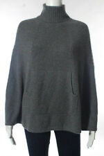 T21 Gray Cashmere Turtleneck Poncho Sweater Size One Size