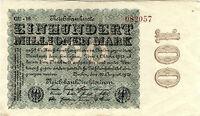 Reichsbanknote 100 Millionen Mark 1923 Berlin Reichsbank DEU-120s P-107d SELTEN