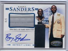 2013 Panini Certified Autograph Patch Prime #5 Barry Sanders 4/5
