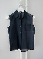 Stylische Original JIL SANDER Bluse, Gr.36, Dunkelblau, Made in Italy *****