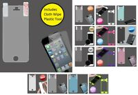 LCD Screen Protector Cover Film +Cloth Wipe +Applicator for iPhone 5 5C or 5S