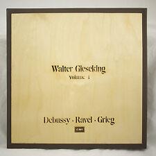 10LP EMI WOOD BOX SET WALTER GIESEKING PIANO WORKS DEBUSSY RAVEL GRIEG ITALY 1ST