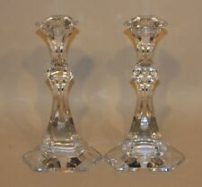 Pair Val St Lambert Belgium 9-3/8 Inch Vendome 5100 Tall Candlesticks in Boxes