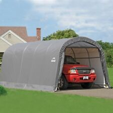 ShelterLogic Garage-in-a-Box 12x20x8 ft. RoundTop Instant Garage- Gray 62780 NEW