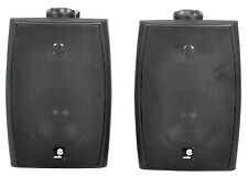 E Audio 60W Active Wall Mount Speakers Black with Bluetooth 4.0 Background Sound