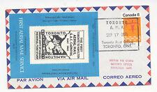 New listing Canada 1973 Airmail Event Cover Toronto to Hamilton Anniv Cinderella Label X