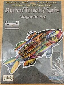 Rivers Edge Truck/Auto/Safe Magnetic Art Decal Lure Fish (NEW)