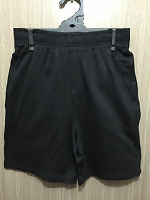 BNWT Kids Sz 14 Target Black Elastic Waist School/Sports Rugby Knit Shorts