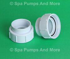 """Two (2) Spa Pump Union Coupling Fittings 3"""" Threads for 2"""" pvc pipe size - pair"""