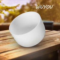 WUYOU 10inch C note Root Chakra Crystal Singing Bowl Frosted Quartz Bowl