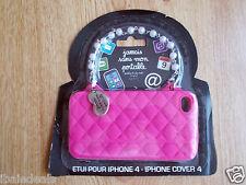 Etui Coque rose en silicone iPhone 4 pour fashionista fashion Collector
