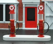 Texaco 1920's Gas Pump Island Kit 4 Pc Set 1/24 Scale G Scale Diorama Accessory