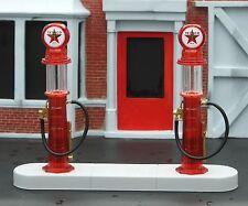Texaco 1920's Gas Pump Island Kit 4 Pc Set 1/24 Scale G Scale Diorama Accessory