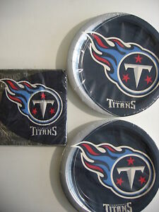 TENNESSEE TITANS NFL FOOTBALL Party Supplies Includes Plates & Napkins NEW !