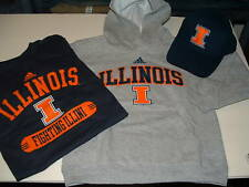 UNIVERSITY OF ILLINOIS ADIDAS HOODY/SHIRT/HAT YOUTH SIZE LARGE (14-16) NWT