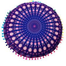 Round Indian Mandala Print Floor Bohemian Throw Sofa Pillows Case Cushions Cover