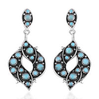 925 Sterling Silver Southwest Dangle Drop Earrings Turquoise Gift for Women
