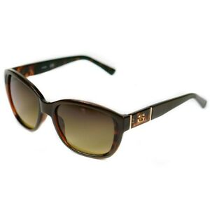 Guess Ladies Sunglasses Brown GU7337 with Cat Eye Frame   Brand New