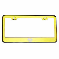 Gold Chrome License Plate Frame Stainless Steel Laser Engraved Fit Nissan Logo