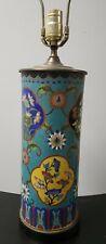 antique cloisonne brush pot Lamp