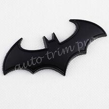 Black 3D Bat Emblem Badge Sign Logo Sticker Decal Decorate Auto Accessories Trim