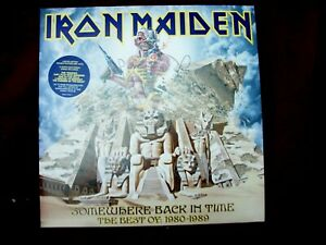 IRON  MAIDEN LIMITED EDITION DOUBLE PICTURE DISC METAL 2 LP's BEST OF 1980-1989