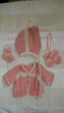 Effanbee Dydee Baby or Ideal Betsy Wetsy sweater hat mittens and one bootie