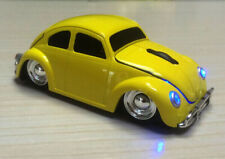 VW beetle Car Wireless Mouse Gaming Mice 2.4GHZ USB LED for pc Mac Laptop Yellow