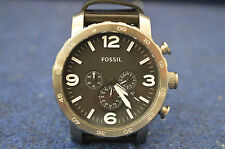 Fossil Genuine Leather Strap 50 m (5 ATM) Wristwatches