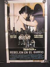 Sunnyside Spanish Movie Poster Rebelion En El Barrio 1979 Joey Travolta