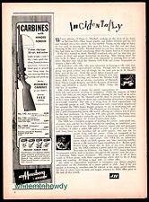 1951 MOSSBERG 142 Bolt Action Carbine AD w/ original price