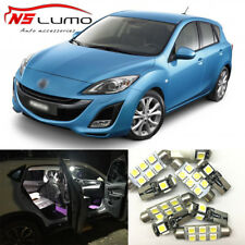 Interior LED Light Bulbs Package Kit for Mazda 3 04-09 10pcs License Trunk Dome