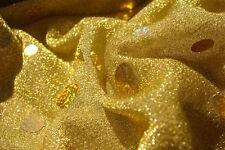 Stretch Sequin Gold Lurex Fabric