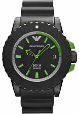 New Emporio Armani AR6102 Acqua Sportivo 45MM Watch 200 M/20 Bars $295+