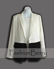New! Grace Elements Women Blazer Jacket Black and White Size 8 Reg. Price $69.00