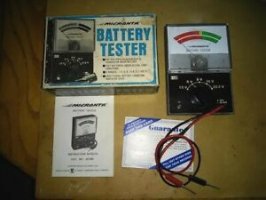 VINTAGE 1974 Battery Checker Tester MICRONTA RADIO SHACK  22-030  Made in Japan