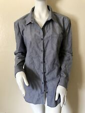 THE NORTH FACE Stevie Womens Woven Faux Denim Shirt size L Outdoor $65 New