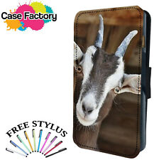 CUTE HAPPY  BABY CUB GOAT - Leather Flip Wallet Phone Case Cover