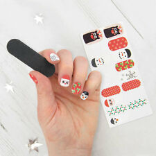 Festive Christmas Nail Wraps Transfers Stickers Self Adhesive Party Decorations