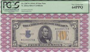 $5 1934A North Africa SC STAR Note * 11002179 A  PCGS Very Choice New 64PPQ!