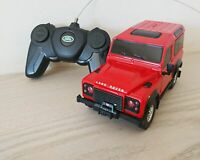 Land Rover Defender Red Remote Control Car Scale Model 1:24 NEW